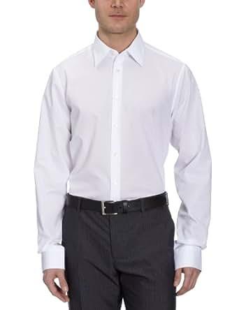Schwarze Rose Herren Hemd/ Business 21005, Gr. 37 (S), Weiß (Weiß 01)
