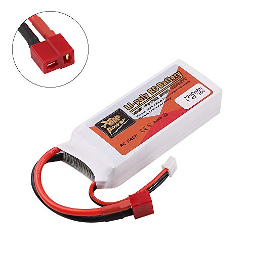 Hootracker ZOP Power 2200mAh 7.4V 35C 2S LiPo Battery T Plug Deans Connector for RC Car Airplane Helicopter DIY Part