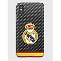 Real Madrid Club de Fútbol Funda para el iPhone XS, XS Max, XR, X, 8, 8+, 7, 7+, 6S, 6, 6S+, 6+, 5C, 5, 5S, 5SE, 4S, 4,