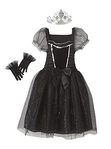 Vertbaudet Filmstar-Kostüm für Mädchen schwarz 122/128 (Kostüm Mädchen Filmstar Für)