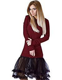 Casual Cordón De Punto Vestir, WINWINTOM Mujeres Chicas Otoño/Invierno Vestido De Noche, Vestido De Manga…