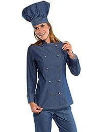 Isacco - Veste de cuisine en Jeans pour Femme