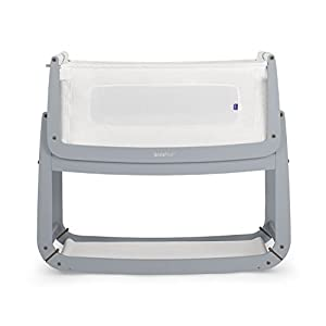 SnuzPod 3 Bedside Crib - Dove Grey Access Hardware Vertical Baby Changing Table Wall Mounted & Folding Easy to Use and Hygienic 4