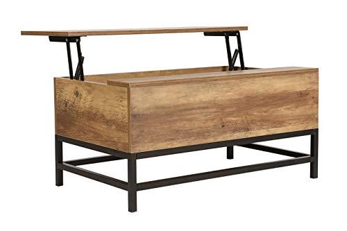 Dynamic24 Couchtisch Klappfunktion Wohnzimmer Tisch Holz Sofa Truhe Truhentisch Holztisch