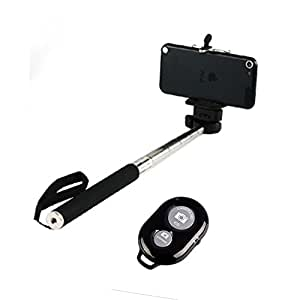 SMILEDRIVE SELFIE STICK WITH WIRELESS BLUETOOTH SELFIE CLICKER-COMBO UNIVERSAL MOBILE SELFIEPOD WITH MOBILE SHUTTER