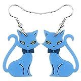 RQZQ ohrring Mode Big Long News Acryl Tropfen Baumeln Anime Elegante Katze Ohrringe Einzigartigen Stil Schmuck Für Mädchen Frauen Teen Geschenk