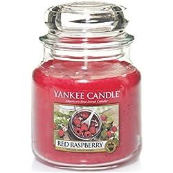 Yankee Candle 1323187E Bougie dans un bocal en verre - rouge framboise, Jarre Moyen