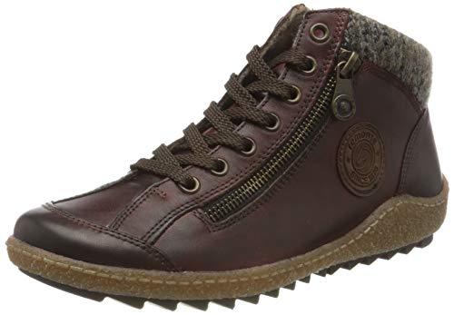 Remonte Damen R4775 Hohe Sneaker, Rot (Medoc/Brown/Graphit/Medoc 37), 43 EU