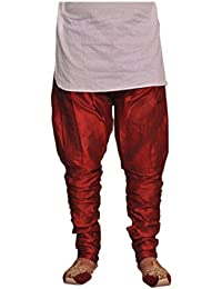 Larwa Men's Dupion Silk Free Size Pyjama