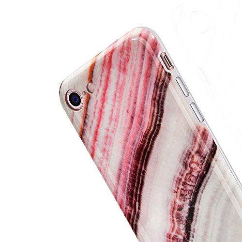 iPhone 7 Handytasche,iPhone 8 Marmor Handyhülle, Vandot Luxus Flexible Weich Marble Ultra Dünn Slim Schutz Handy Hülle für iPhone 7 8 Muster Malerei Kratzfeste Rutschfest Schutzhülle Shiny Glänzend Go Marmor Muster 2