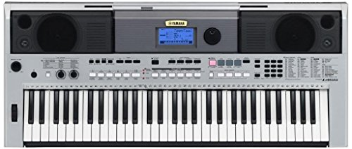 Yamaha PSRI455 Digital Keyboard with Cover, Silver