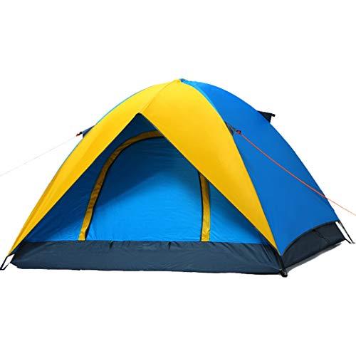 Catrp marca tende da campeggio per tende da campeggio impermeabili a 3-4 persone (colore : blue+yellow)