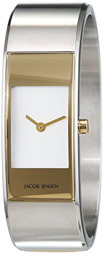 Jacob Jensen Womens Analogue Quartz Watch with Stainless Steel Strap Eclipse Item NO. 442