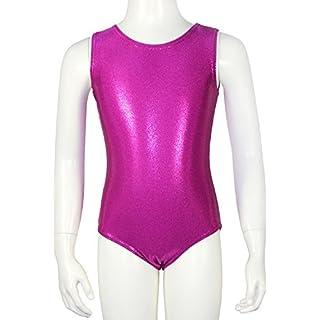 Kurzarm Turnanzug Body Glitzerlycra - AZV Farbe Pink, Größe 140