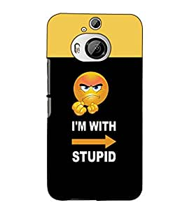 Fuson Designer Back Case Cover for HTC One M9 Plus :: HTC One M9+ :: HTC One M9+ Supreme Camera (I am stupid theme)