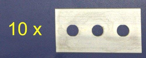 IRIS 2384 Cuchilla recamb. rasqueta vitrocerámica, Acero Inoxidable, Plata, 7.8 x 7...