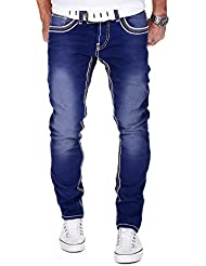 Merish Jeans Herren 4 Farben Bleached High Quality Straight Fit J9580