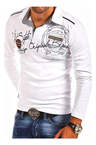 0add6fc445 MT Styles - R-0682 - T-shirt polo à manches longues - inscription