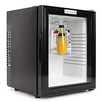 Klarstein 10005439 MKS-12 Mini-Kühlschrank / B / 169 kWh/Jahr / 47 cm / 24 Liter Kühlteil / Minibar / schwarz