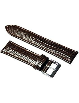 Uhrenarmband Leder Dunkelbraun Teju-Eidechs Prägung 14-24mm Armband Uhr Band 22mm