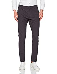SELECTED FEMME Shharval M. Night Check Slim St Pant STS, Pantalon Homme