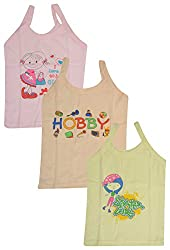 ALOFT Girls Slips - Combo of 3 (ALOFTDORIVEST SLIPS, Orange, Pink and Yellow, 3-4 Years)