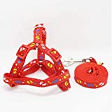 CWQYD Hundegeschirr Halsband Für Kleine Geschirr Mittelgroße Produkte Verstellbares Tierzubehör, Rot, M