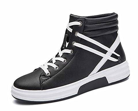 Hommes Chaussures Décontractées Respirantes 2017 Automne Hiver Nouveaux Sports De Mode Sports Hi-Top Sneakers ( Color : Black , Size : 40 )