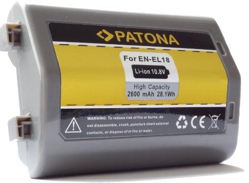 Bundlestar Patona Qualitätsakku für Nikon EN-EL18 mit ORIGINAL SAMSUNG Lithium-Ionen-Zellen 2600mAh!! Infochip - Intelligentes Akkusystem - 100% kompatibel