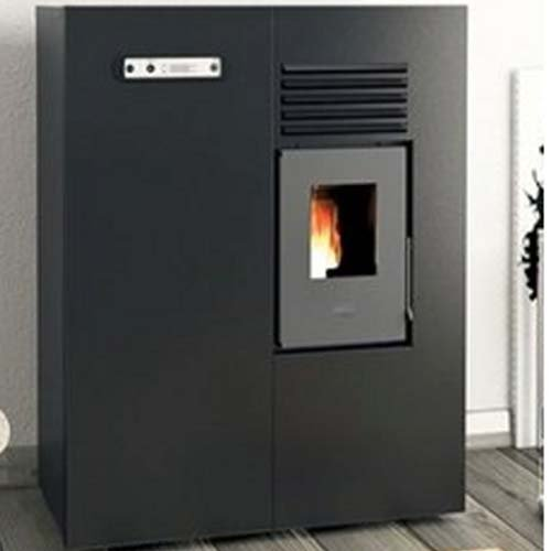 Eva Calor - Estufa de pellets modelo Slim Matilde, 4 KW - Color negro en relieve