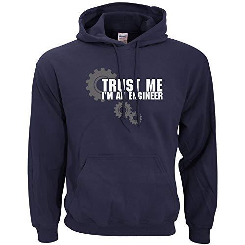DAXIAL Sweatshirt Männer Ingenieur Brief Drucken Männer Sweatshirt Frühling Winter Hoodie Men's Nach Bekleidung, M -