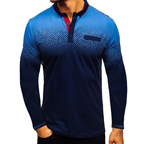 Frauen Kostüm Taxi - ZHANSANFM Poloshirt Herren Revers T-Shirt Aufdruck Polohemd Shirt Mit Polokragen Kurzarm Top Freizeit Fitness Sweatshirt Tops(XL, Dunkelblau1)