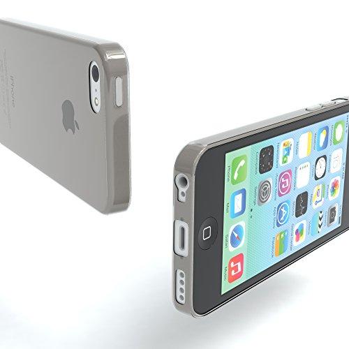 "Apple iPhone 5C Hülle, EAZY CASE Ultra Slim Cover ""Clear"" - Premium Handyhülle Transparente Schutzhülle, Smartphone Case in Transparent Hellgrau"