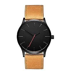 Fashion Armbanduhr, KEATTL Heiße Art- und Weisegeschäfts-Quarz-Uhr Heiße große runde Fall-Geschäfts-Armbanduhr (Braun)