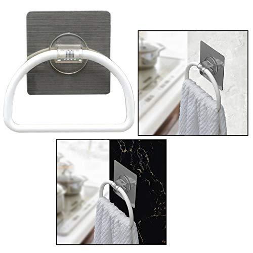 OFKPO Selbstklebende Bad Küche Handtuchring,Handtuchhalter Ring aus Kunststoff -
