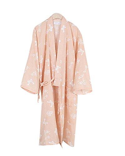 Blancho Baumwoll-Pyjamas Khan Steamed Clothing - Schlafanzug Yukata, Orange