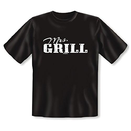 Perfektes T-Shirt für alle Grillprofis - Mrs. Grill - Top Geschenk zur nächsten Grillparty! Schwarz