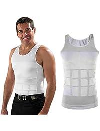 XXL Men Gents Weight Loss Slim & Lift Slimming Shirt Waist Belt Body Shaper Vest
