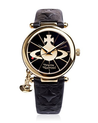 Vivienne-Westwood-Ladies-Orb-II-Black-Leather-Strap-Watch