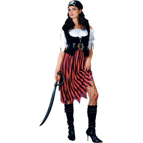 Adult Pirate Fancy Dress Lady Of The Seas Sailor Costume
