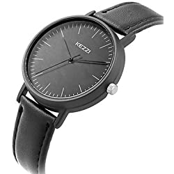 Damen Armbanduhr Quartz / Leder Band Bequem / Cool Schwarz / Weiß / Blau / Braun Marke