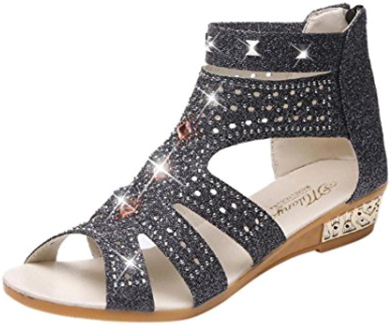 BBestseller,Sandalias planas ocasionales de las mujeres,cómodos sandalias salvajes de la manera ligera de Bohemia...