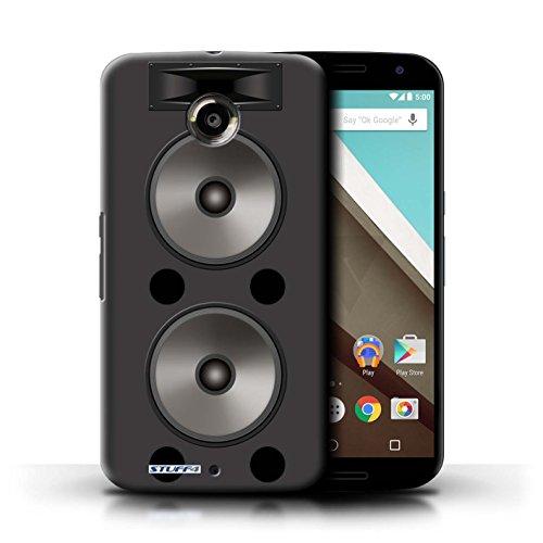 Kobalt® Imprimé Etui / Coque pour Motorola Nexus 6 / Moniteur Studio conception / Série Haut-Parleur dessin Double