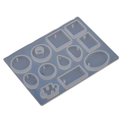 Lychee Stampo in Silicone per Artigianale DIY Accessori Gruppo Pendente Making Gioielli Strumenti (Famiglie Luce Ciondolo Pendente)