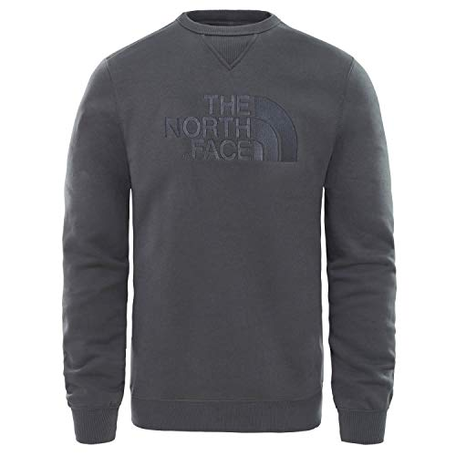 THE NORTH FACE M Crew Jersey de Cuello Redondo Drew Peak, Hombre, Asphalt Grey, M