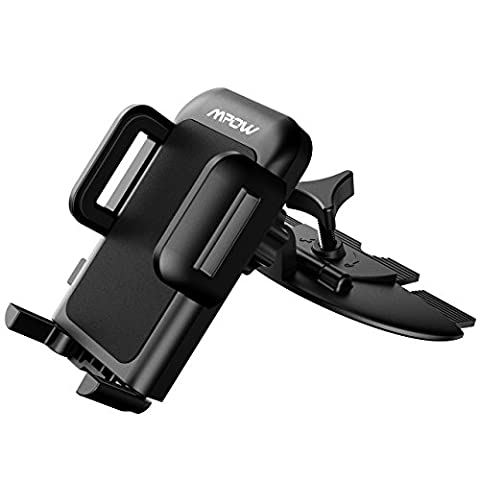 CD Slot Phone Holder, Mpow Grip Pro 2 Universal Easy CD Slot Car Mount Holder with Just A Push, 360 Degree Rotation, 5 Different Test At Design Time Car Cradle for iPhone 6 / 6 Plus / 5S / 5, Samsung Galaxy S6/ S5, Note 5/4/3, HTC, Nexus 4, LG, Nokia and