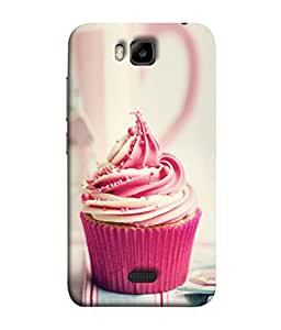 PrintVisa Designer Back Case Cover for Huawei Honor Bee :: Huawei Honor Bee Y5c (Treat Decoration Party Sweet Food Bakery Icing)