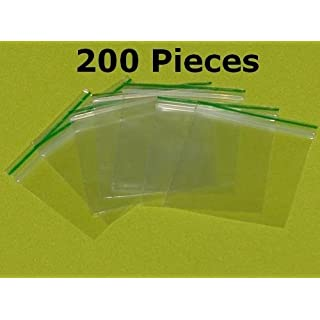 200pcs 30 mm x 30 mm Small Clear Poly Plastic Grip Seal by Anything4home