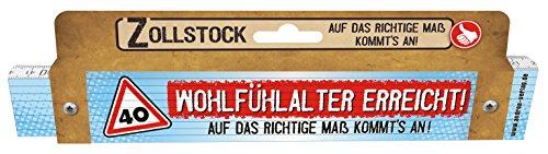 (Zollstock für Männer 40 Wohlfühlalter erreicht Spezialzollstock zum 40. Geburtstag 30108)