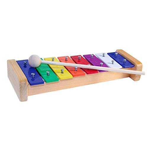 Glockenspiel aus Holz | Metallophon bunt | Musikinstrument | Kindergeschenke